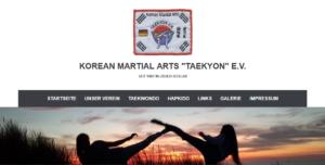 Screenshot unserer neuen Vereinsseite